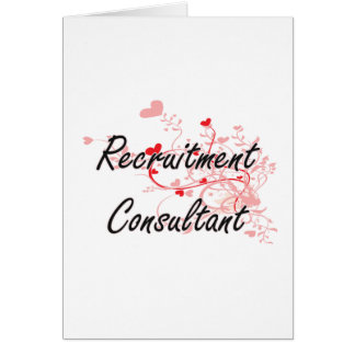 Recruitment Consultant Artistic Job Design with He Greeting Card
