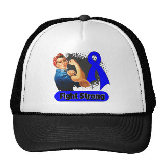 Rectal Cancer Fight Strong Rosie Riveter Cap