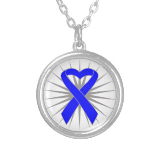 Rectal Cancer Heart Ribbon Custom Jewelry