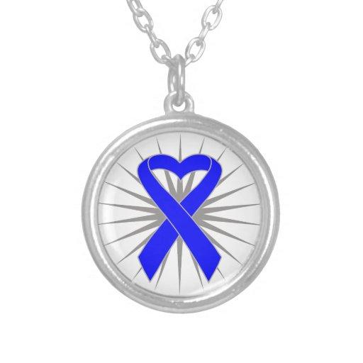 Rectal Cancer Heart Ribbon Custom Jewelry
