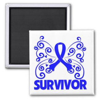 Rectal Cancer Survivor Butterfly Fridge Magnet