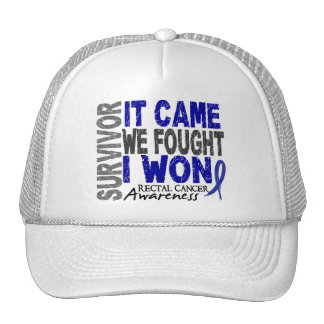 Rectal Cancer Survivor It Came We Fought I Won Trucker Hats