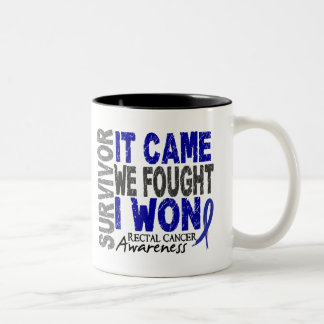 Rectal Cancer Survivor It Came We Fought I Won Coffee Mugs