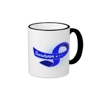 Rectal Cancer Survivor Ribbon Mugs