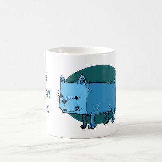 rectangle dog funny cartoon coffee mug