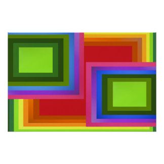 Rectangle Rainbow Poster