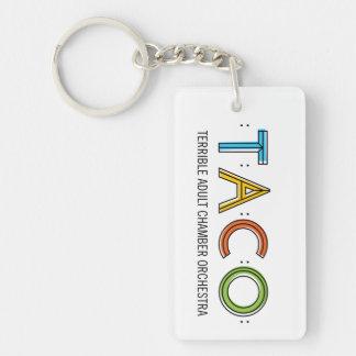 Rectangle (Single-Sided) TACO Keychain
