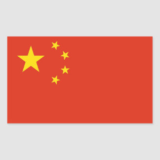 Rectangle sticker with Flag of China