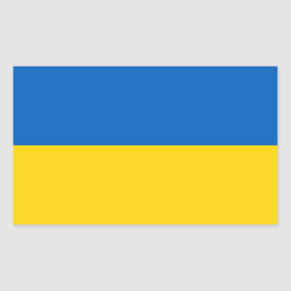 Rectangle sticker with Flag of Ukraine