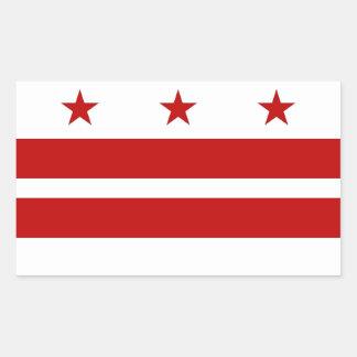 Rectangle sticker with Flag of Washington DC