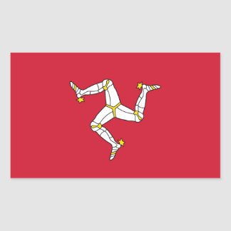 Rectangle sticker with Isle of Man Flag, UK