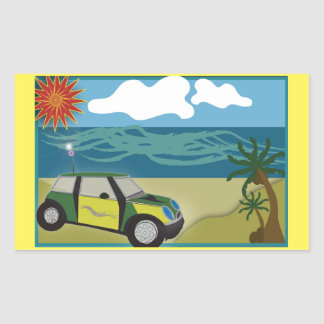 Rectangle Stickers MINI VACATION