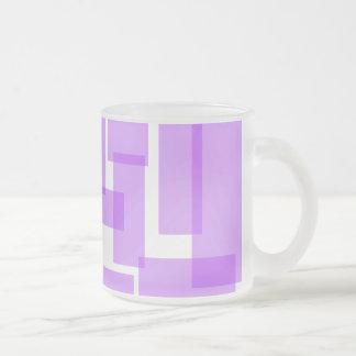 Rectangles Mug - Purple