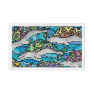Rectangular Acrylic Tray: Dolphin Series Acrylic Tray