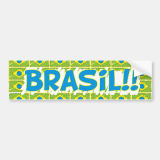 "Rectangular adhesive ""Brazil in the cup "" Bumper Sticker"