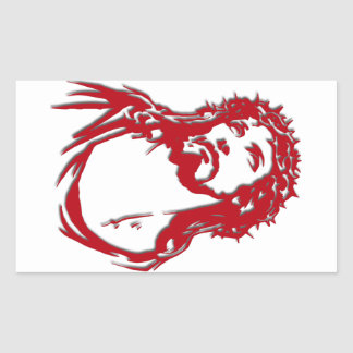 "Rectangular adhesive ""Image of Jesus "" Rectangular Sticker"