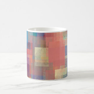 rectangular art design coffee mug