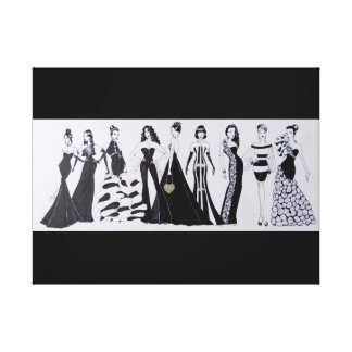 Rectangular canvas Blk & Wht Fashion Print