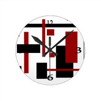 Rectangular Pattern 1 Round Clock