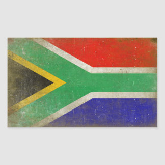Rectangular Sticker with Flag from South Africa