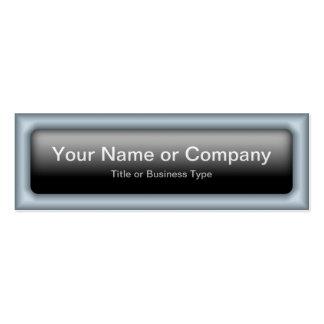 Rectangular Web 2.0 Button with QR Code Business Card Templates
