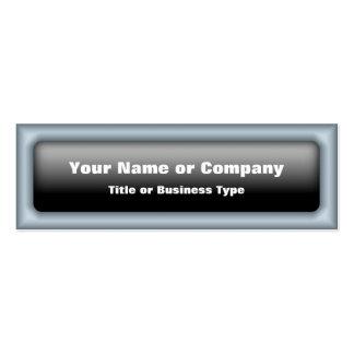 Rectangular Web 2.0 Button with QR Code Business Card Template
