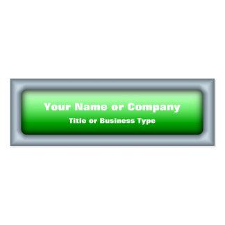 Rectangular Web 2.0 Button with QR Code Business Card