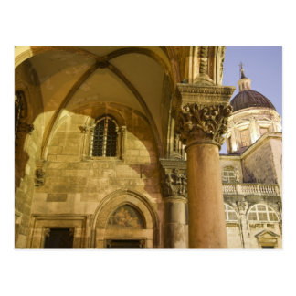 Rector's Palace Arches with Dubrovnik Cathedral Postcard