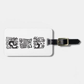 Recuay culture decorative motifs luggage tag