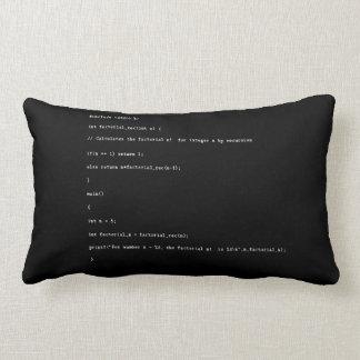 Recursive Function on Black Background Lumbar Cushion