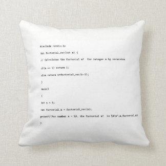Recursive Function on White Background Cushion