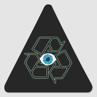 Recycilluminati Triangle Sticker