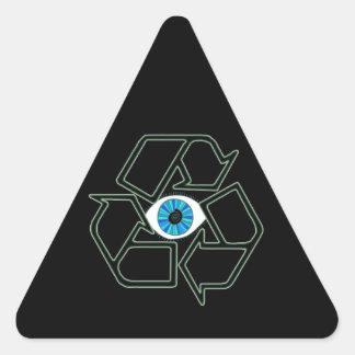 Recycilluminati Triangle Sticker