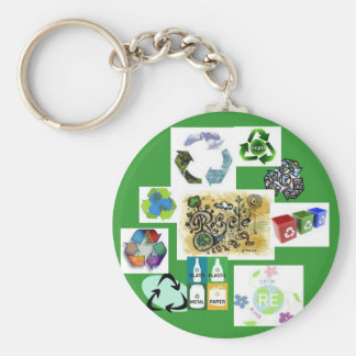 recycle2, recycle, 2, 3, 4, 6, 7, 8, 9, 11 basic round button key ring