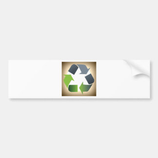 Recycle #1 bumper sticker