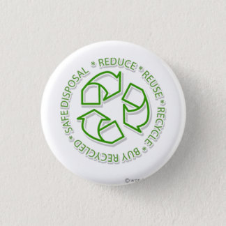 recycle 3 cm round badge