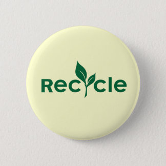 Recycle 6 Cm Round Badge