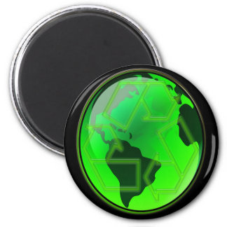 Recycle and Save the Earth 6 Cm Round Magnet