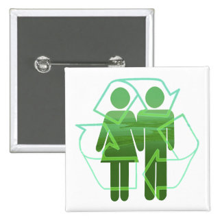 Recycle 15 Cm Square Badge