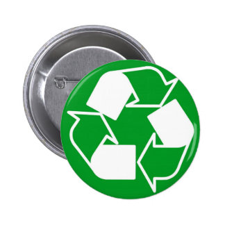 recycle pinback button