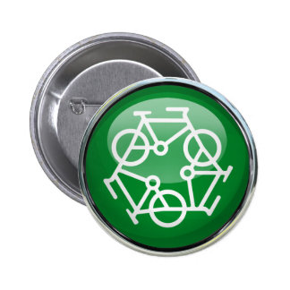 Recycle Bicycle 6 Cm Round Badge