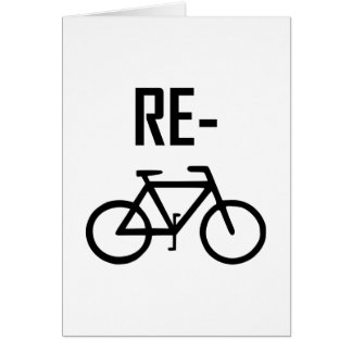 Recycle Bicycle Bike Card