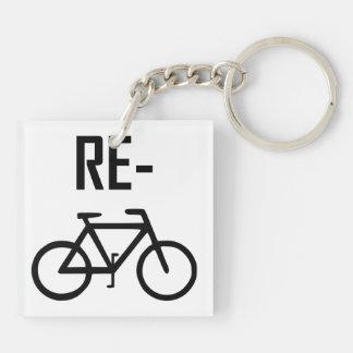 Recycle Bicycle Bike Key Ring