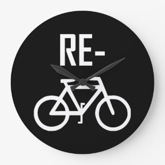Recycle Bicycle Bike Large Clock