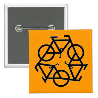 Recycle Bicycle Logo Symbol 15 Cm Square Badge