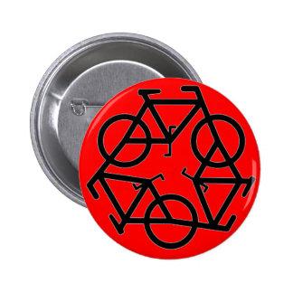 Recycle Bicycle Logo Symbol 6 Cm Round Badge