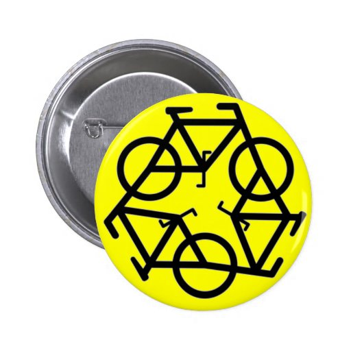 Recycle Bicycle Logo Symbol Buttons