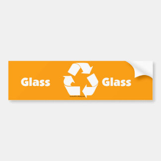 Recycle bin labels for glass with recycle symbol. bumper stickers