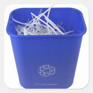 Recycle Bin Square Sticker