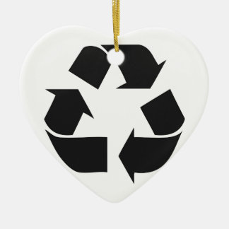 recycle black.jpg ceramic heart decoration